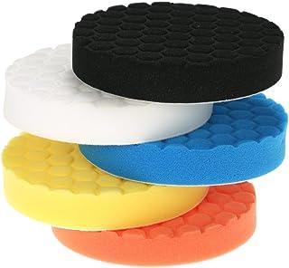 5pcs OxoxO 6//150mm Wool Buffing Pad Polishing Buffer Soft Woolen Pad Set
