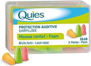 QUIES - protection auditive mousse disco - boite de 3 paires