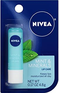 Nivea Kiss of Mint and Minerals Lip Care Blister Card, 0.17 Ounce (Pack of 6)