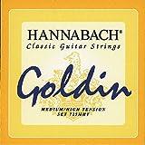 Hannabach Cuerdas Para Guitarra Clasica, Serie 725 Tension Media/Alta Goldin - Juego 3 Cuerdas Graves Re4+La5+Mi6