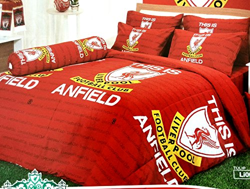 Buy Discount Liverpool Football Club Official Licensed Bedding Set, Bed Sheet, Pillow Case, Bolster ...