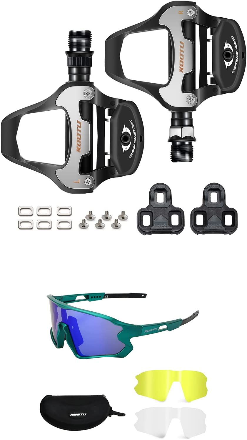 KOOTU Bike Pedals Mail order cheap Road Polariz Surprise price Clipless with