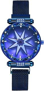 FEISI22✿ Women Men's Luxury Stainless Steel Band Bracelet Watch Business Casual Chronograph Quartz Wristwatch