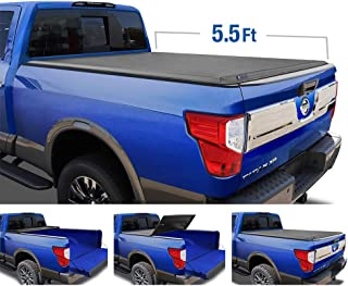 Tyger Auto T3 Tri-Fold Truck Tonneau Cover TG-BC3N1048 Works with 2017-2019 Nissan Titan | Fleetside 5.5' Bed | for Models with or Without The Utili-Track System