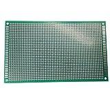 Elec4U セット両面スズメッキ ユニバーサルプロトタイピングボード, はんだ付け可能 ユニバーサルプリント 回路基板,ブレッドボード, プロジェクトサーキット (9x15cm 5枚)
