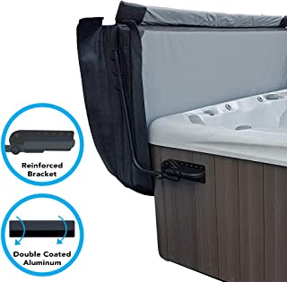 Puri Tech Cover Lifts - Pivot Top Mount Spa & Hot Tub Cover Lift Removal System Reinforced Brackets Double Coated Aluminum Structure Fits Most Spas & Hot Tubs
