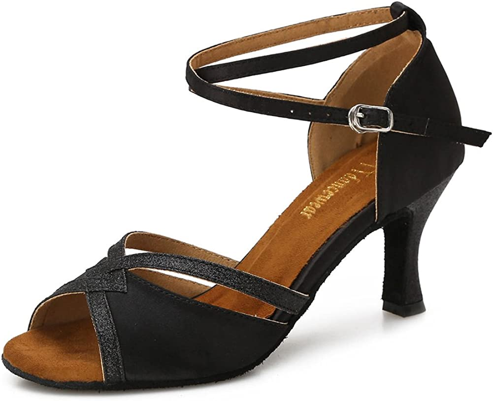 70s Shoes, Platforms, Boots, Heels | 1970s Shoes TTdancewear Women Ballroom Dance Shoes Latin Salsa Bachata Performance Sparkly Dance Dancing Shoes  AT vintagedancer.com
