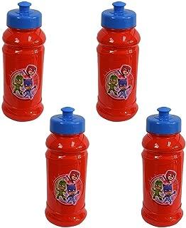 Zak Designs 4-Pack PJ Masks Kids 16oz Pull-Top Water Bottles, Red/Blue, BPA-Free