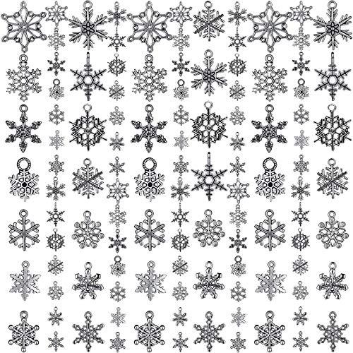 YuuHeeER Charm Collections - Colgante de plata envejecida, 70 piezas