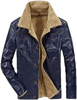 Men Vintage Stand Collar Pu Leather Jacket Casual Motorcycle Biker Bomber Jacket