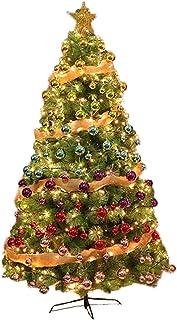 aipipl Sapin de Noël Mince avec Aiguilles de pin légères, Sapin de Noël avec Oranges et lumières, Sapin de Noël Artificiel...