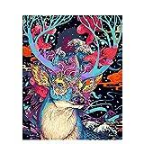 Diy pintura digital colorido animal pintura al óleo pintada a mano decoración del hogar regalo lienzo pintura 40x50cm