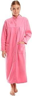 Undercover Women's Button Front Soft Fleece Dressing Gown
