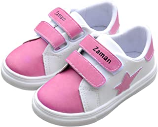 Toddler/Little Kids Walking Shoes, Soft and Light Weight PU Leather Casual Kids Sneakers, Color Changing in The Sun