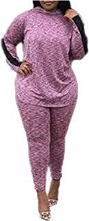 Womens Baggy Two Piece Stylish Leisure with Hood Suit Tracksuits