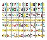 Ai-life 126 Piezas DIY Decorativos Especiales Cinema Signos Símbolos Letras Emojis Números, Signos de Cine para Caja de luz de Tamaño A4, Set Complementario en Color