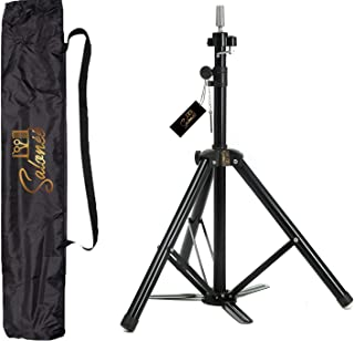 Premium Mannequin Head Stand Tripod - Heavy Duty Lightweight Aluminum for Portability and Durability. Bonus Easy Carry Tote. Exclusively by Salonee - your Source for Professional Salon Equipment.