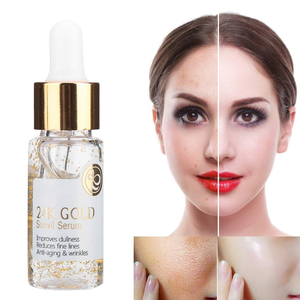 15ML Ranking TOP16 Max 65% OFF 24K Gold Foil Snail Facial Serum Moisturizing Face Firming