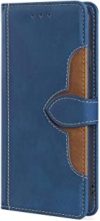 Boleyi Case for Tecno Spark 7 Pro, Magnetic High-end Lychee Grain Leather Anti-skid Soft-touch Folio Flip Case Cover with ...