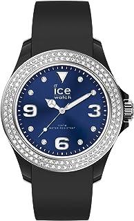 Ice-Watch - Ice Star Black Deep Blue - Montre Noire pour Femme avec Bracelet en Silicone - 017237 (Medium)