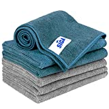 MR.SIGA Microfiber Cleaning Cloth, Pack of 6, Size: 13.8' x 15.7'