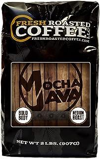 Fresh Roasted Coffee LLC, Mocha Java Coffee, Artisan Blend, Medium Roast, Whole Bean, 2 Pound Bag