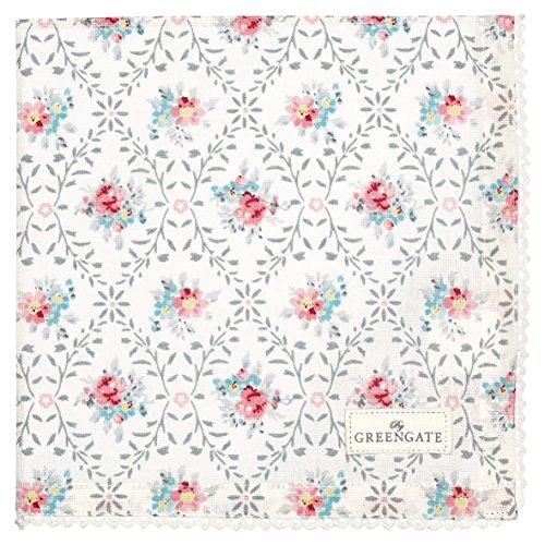 Serviette de table Greengate COTNAPWLDAI8508 Daisy - Grises - 40 x 40 cm