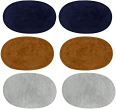 Blesiya Repair Patches, Pack of 3 Assorted Color Oval suede Fabric Patch Repair Sewing Elbow Knee Patches Clothing Accesso...