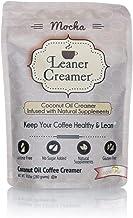 Leaner Creamer, Non-Dairy Coffee Creamer – Sugar Free, Low Calorie, Coconut Oil, Paleo, Keto, Gluten Free, Healthy Weight ...
