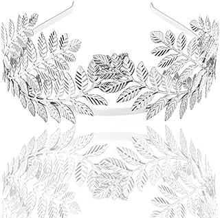 Beaupretty corona di tiara a foglia barocca cerchietto in lega gioielli in metallo accessori per capelli accessori per cap...