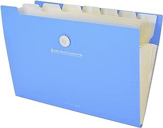 B bangcool Expanding File Folder Waterproof 8-Pocket Document Organizer with Cord Closure