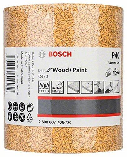 Bosch Professional C470 Schleifwalze Farbe für Holz(93 mm, 5 m, Körnung 40)