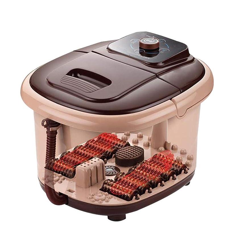 会計血色の良い流体マッサージャー マッサージャーフットマッサージホームフットバレルプラスチックなし電動バレルフットバスタブフットバス小さなホットフットインシュレーションホームギフト (Color : Brown, Size : 42*36*27cm)