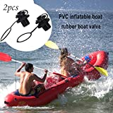 Tbest Válvula de Aire de Barco,2Pcs Válvulas Inflable Canoa de Repuesto Válvula de Aire para Kayak Piscina Barco de Pesca Hinchable de Goma