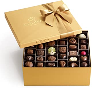 Godiva Chocolatier Classic Gold Ballotin Assorted Chocolate Gift Box, Holiday Gift Set, Chocolate Lover's Set, Belgium Chocolate, 140 Count