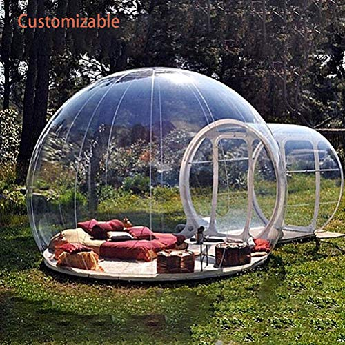 ZYJFP Tuin Iglo, 360 koepel Buiten Enkele Tunnel luxe Familie Camping Achtertuin Transparant Opblaasbare Bubble Tent (aanpasbaar)