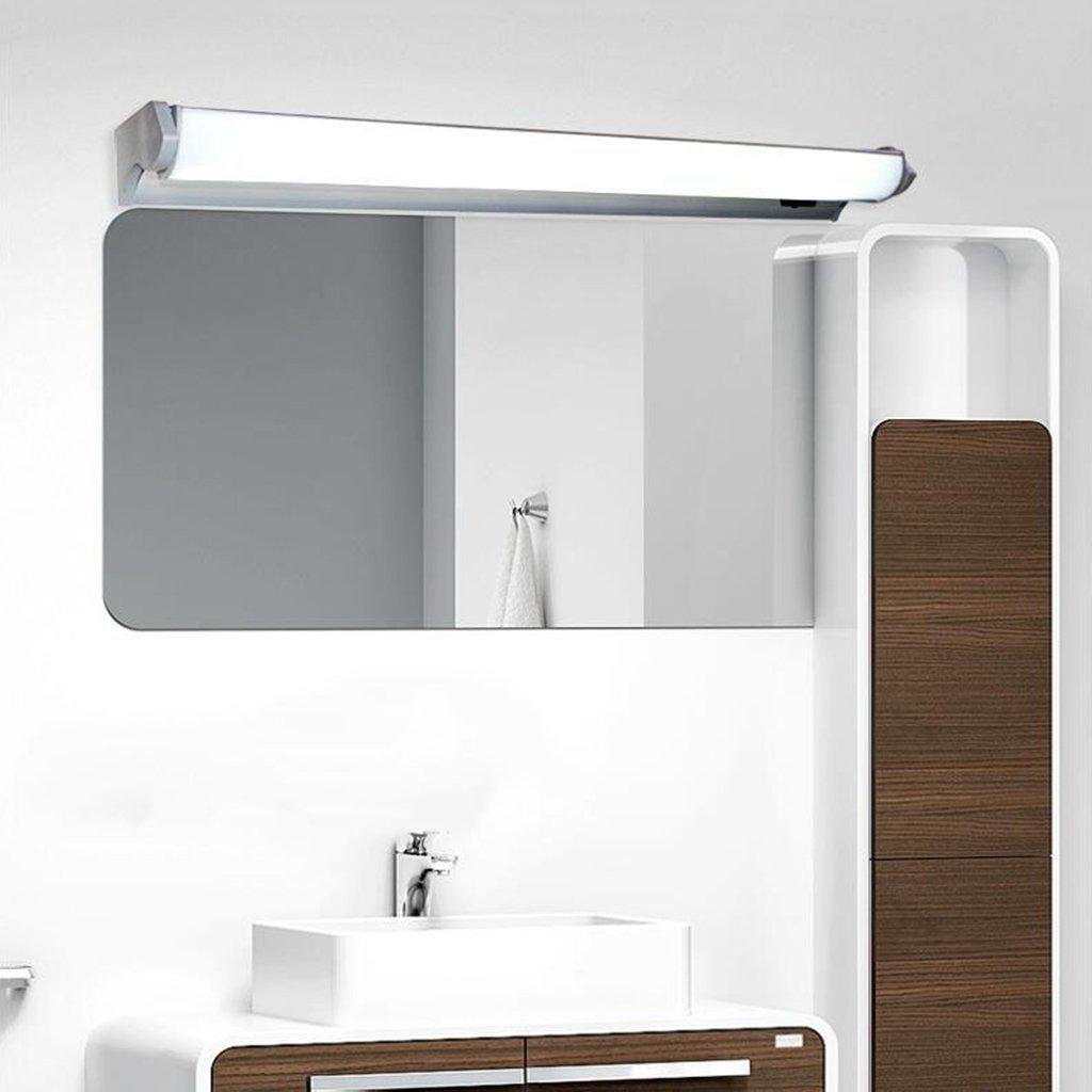 BiuTeFang LED con luz frontal de espejo estanca antivaho moderna baño con luz de espejo baño con lámpara de pared 76cm 12W: Amazon.es: Iluminación