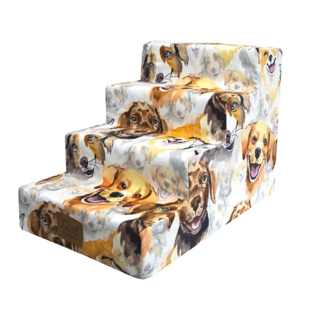 delibett - Escalera para Perros, Escalera para Mascotas, con 3 Niveles, 40 x 60 x 40 cm, Ayuda de Entrada para Perros pequeños y Gatos: Amazon.es: Productos para mascotas