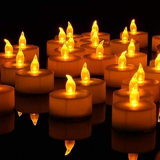 Nancia Tea Lights, 36PACK Flameless LED Tea Lights Candles, Flickering Warm Yellow, 100 Hours Battery-Powered Tea Light, I...