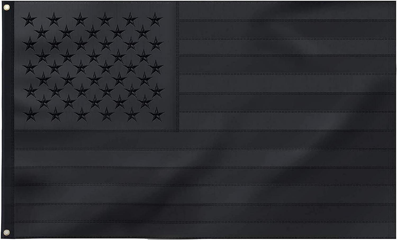 FLAGBURG All Black Kansas City Mall American Flag 3x5 25% OFF Tactical US FT