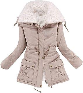 Aro Lora Womens Winter Warm Faux Lamb Wool Coat Parka Cotton Outwear Jacket