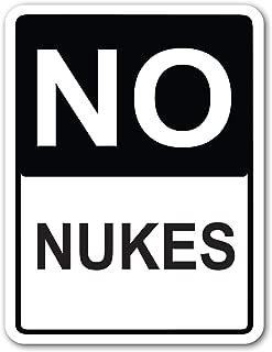 1legend& New Tin Sign Retro No Nukes Street Sign Aluminum Metal Sign 8 X 12 Inch