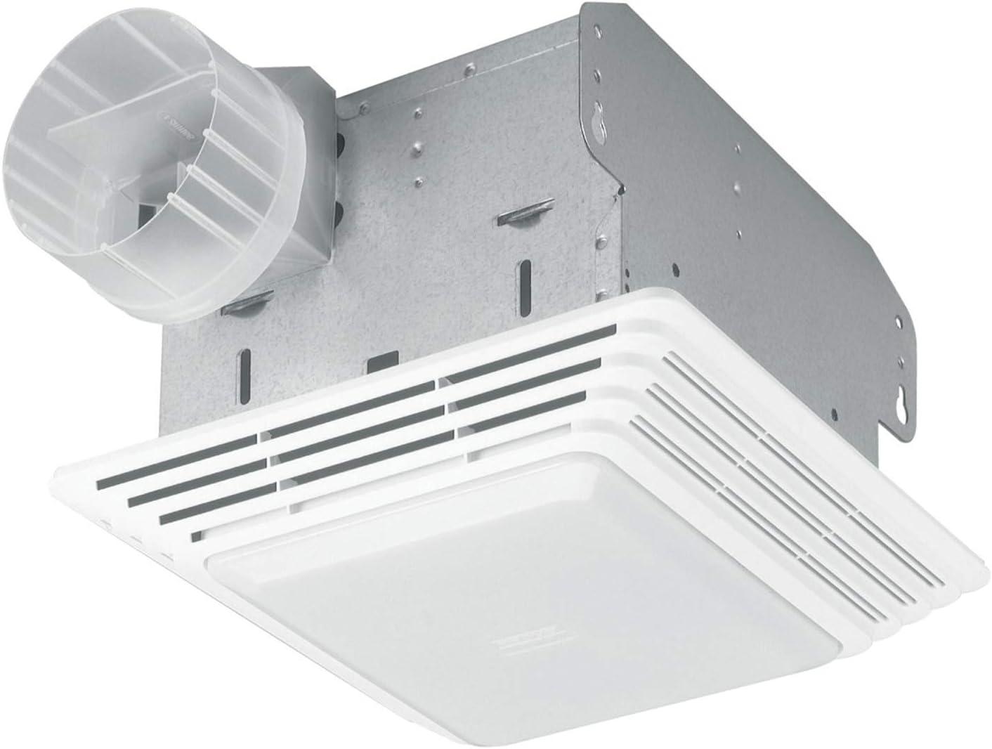 Amazon Com Broan Nutone Hd80l Heavy Duty Ventilation Fan Combo For Bathroom And Home 100 Watt Incandescent Light 80 Cfm Matte White Home Improvement