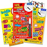 Yes and Know Invisible Ink Books Set for Kids, Ages 7 and Up ~ Pack of 3 Yes and No Activity Books with Games, Puzzles, Trivia with Magic Invisible Ink Pens and Stickers (Travel Games for Kids in Car)