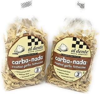 2 Packs Al Dente Pasta Carba-Nada Roasted Garlic Fettuccine 10 Ounce Bag