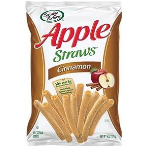 Sensible Portions Cinnamon Apple Straws, 6 Ounce -- 12 per case.