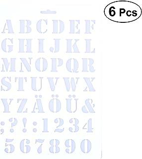 Besto nzon 6 unidades para tartas Plantillas Alfabeto Letras Spray Plantillas Molde decorar Tools DIY Fondant