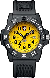 Luminox Mens SEA Stainless Steel Swiss-Quartz Watch with Rubber Strap, Black, 24