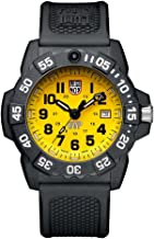 Luminox Men's SEA Stainless Steel Swiss-Quartz Watch with Rubber Strap, Black, 24 (Model: 3505.SC.Set)