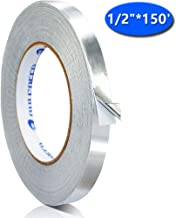 Sliver Aluminum Foil Tape for Duct Work, 1/2 in x 150 ft (4 mil) Reflectix Tape Perfect for HVAC, Patching Hot, Cold Air Ducts, Metal Repair
